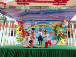 Các tiết mục văn nghệ chào mừng của các bé trong ngày Hội bé đến trường